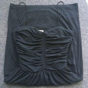 Mango 🇪🇸 Navy blue midi dress   Size SP